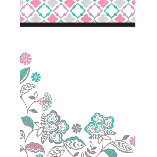 WallPops! Dry Erase Floral Medley Message and Calendar Chalkboard Wall Decal