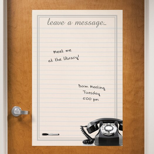 WallPops! Dry Erase Vintage Leave Message Giant Wall Decal