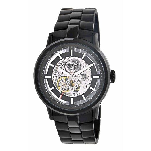Kenneth Cole Men's Round Bracelets Watch in Black