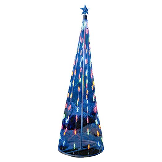 Homebrite Solar String Light Cone Tree Christmas Decoration