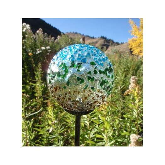 Allsop Home and Garden Recycled Glass Solar Garden Stake Light