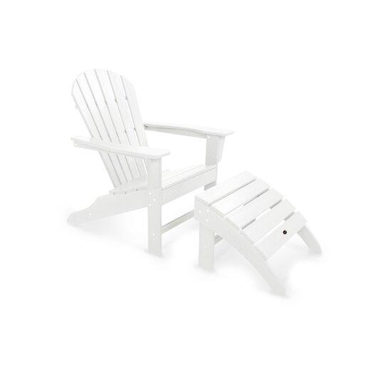 POLYWOOD® South Beach 2 Piece Adirondack Seating Group