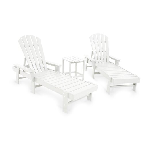 POLYWOOD® South Beach 3 Piece Chaise Lounge Seating Group