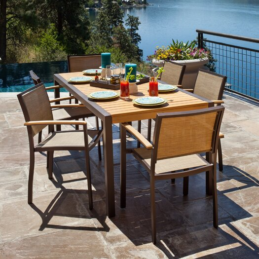 POLYWOOD® Bayline™ 7 Piece Dining Set