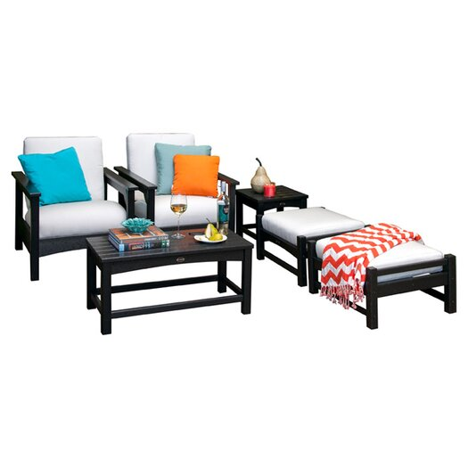 POLYWOOD® Club 6 Piece Deep Seating Group with Cushions