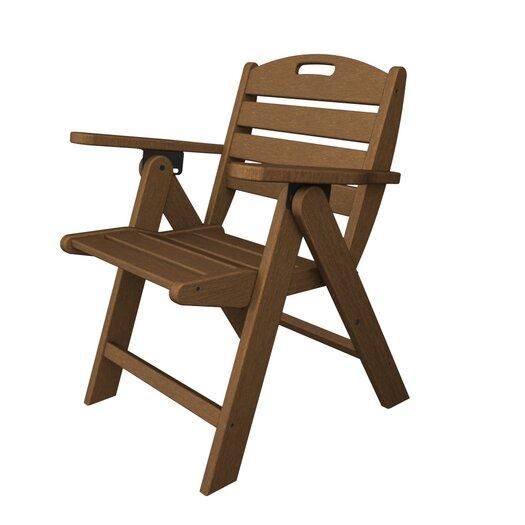 POLYWOOD® Nautical Low Back Beach Chair