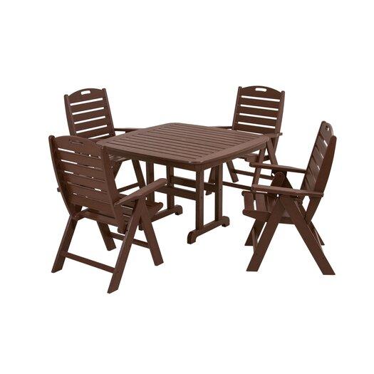 POLYWOOD® Nautical 5 Piece Dining Set