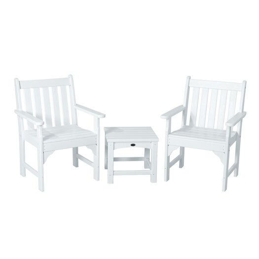 POLYWOOD® Vineyard 3 Piece Garden Chair Set