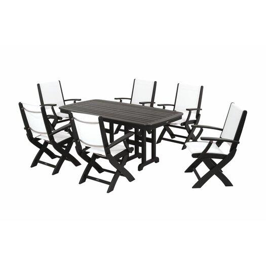 POLYWOOD® Coastal 7 Piece Dining Set