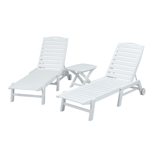 POLYWOOD® Nautical 3 Piece Chaise Set