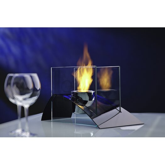 Decorpro Allusion Steel Bio Ethanol Table Top Fireplace