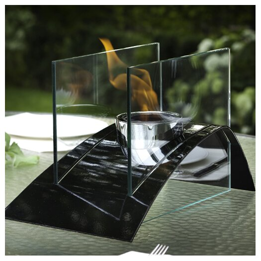 Decorpro Allusion Steel Bio Ethanol Table Top Fireplace