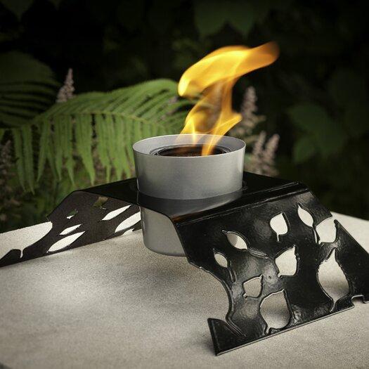 Decorpro Aspen Steel Gel / Bio Ethanol Table Top Fireplace