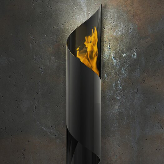 Decorpro Nuvo Wall Mounted Steel Bio Ethanol Outdoor Fireplace