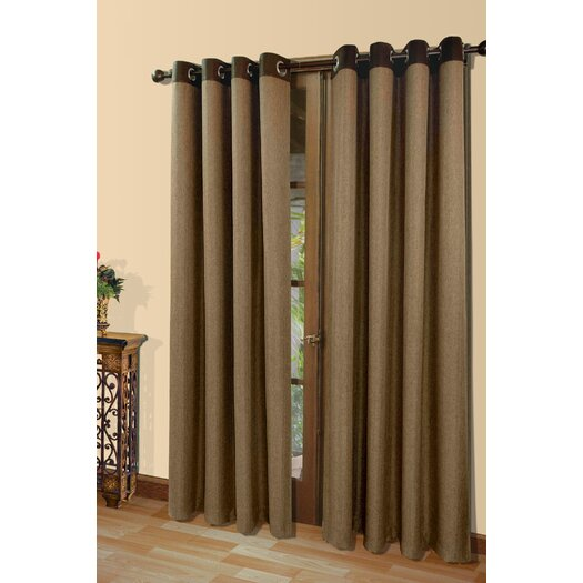 Commonwealth Home Fashions Harrison A Herringbone Weave Grommet Menswear Fabric Curtain Panel