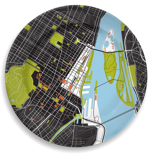 "notNeutral City On A Plate 12"" Montreal Dinner Plate"