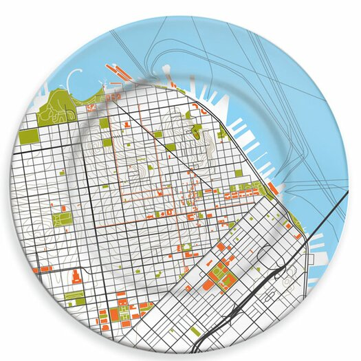 "notNeutral City On A Plate 12"" San Francisco Dinner Plate"