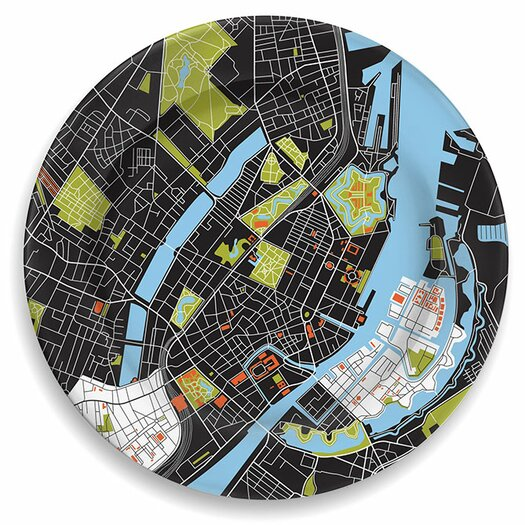"notNeutral City on a Plate 12"" Copenhagen Dinner Plate"