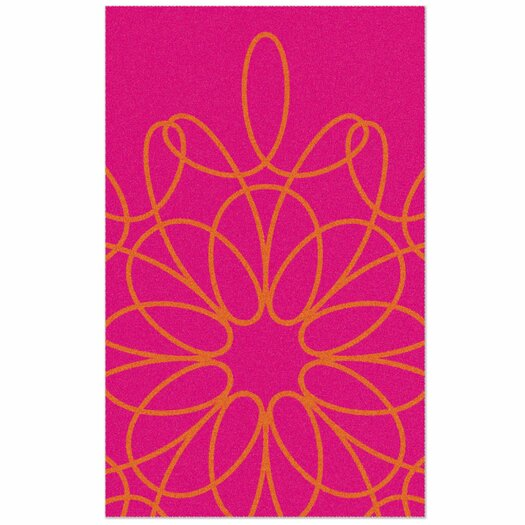 Ribbon Pink Area Rug