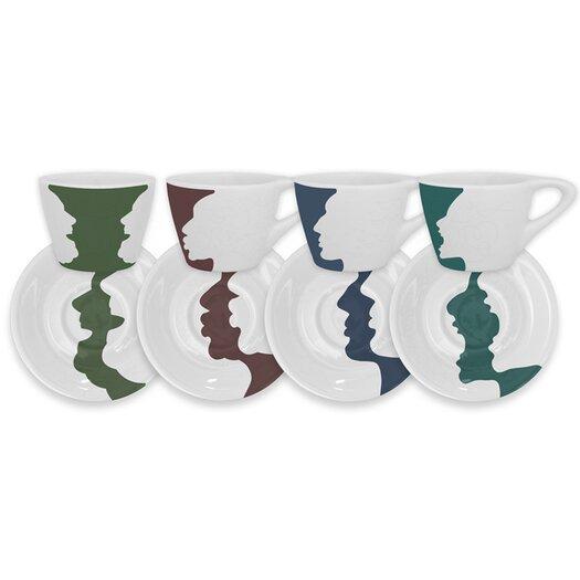 notNeutral 4 Piece Face/Vase Espresso Set