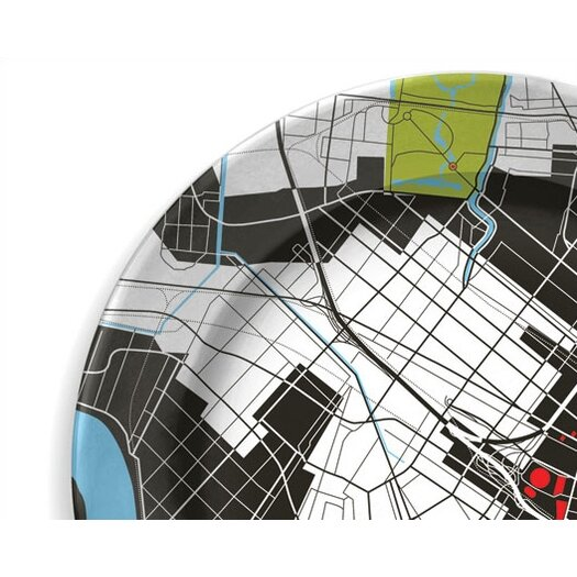 """notNeutral City on a Plate 12"""" New Orleans Dinner Plate"""