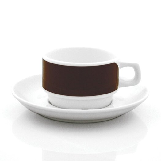 notNeutral Brown Links Cups With Saucers Set