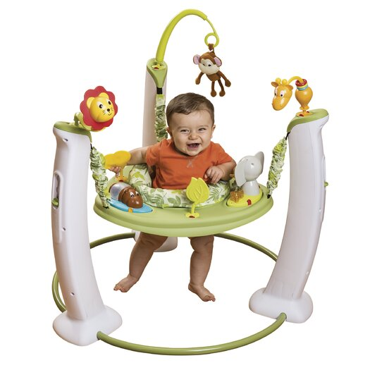 Evenflo ExerSaucer Wildlife Adventure Jump and Learn Stationary Jumper