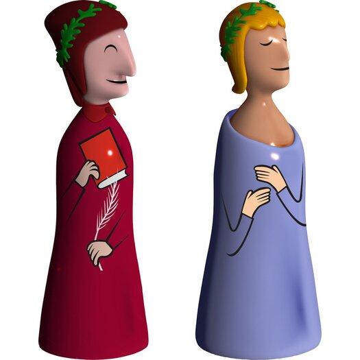 Alessi Dante E Virgilio Statuettes
