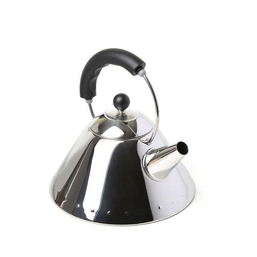 Alessi 2 Qt. Signature Whistle Tea Kettle