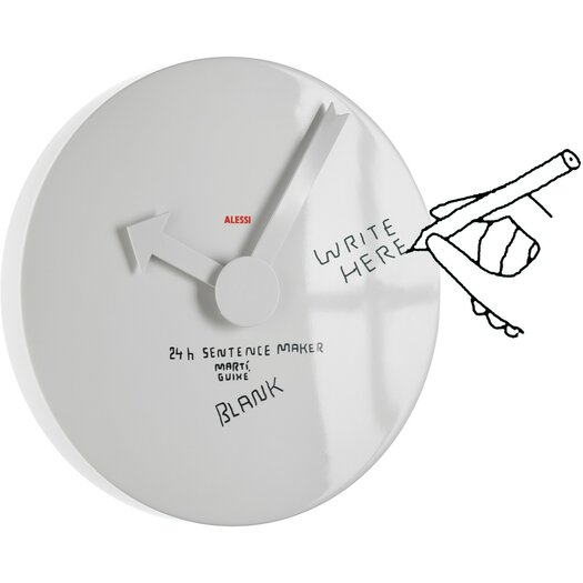 "Alessi Martí Guixé 15.75"" Blank Wall Clock"