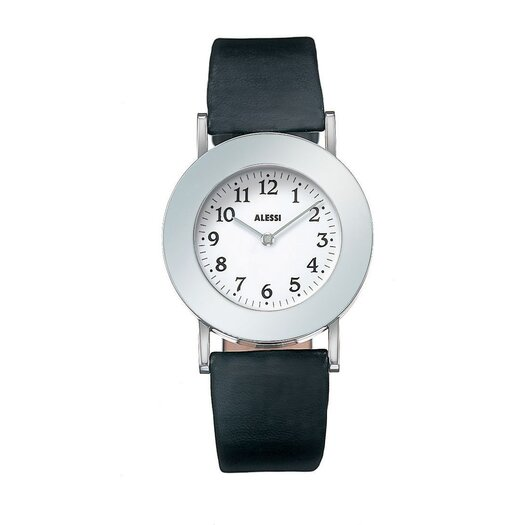 Alessi Momento Leather Watch