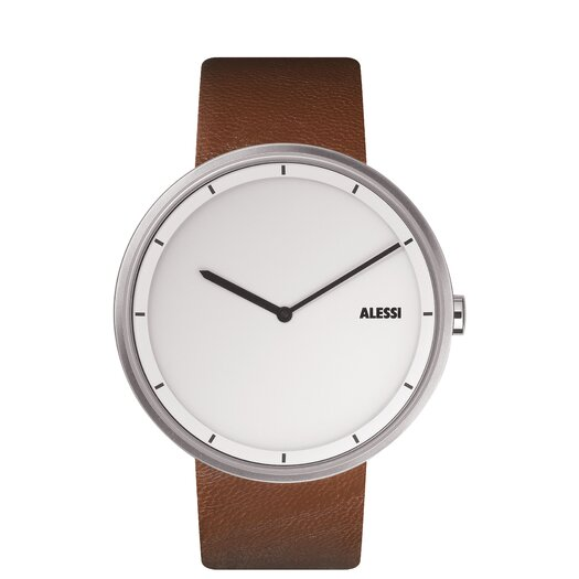 Alessi Out-Time Leather Watch