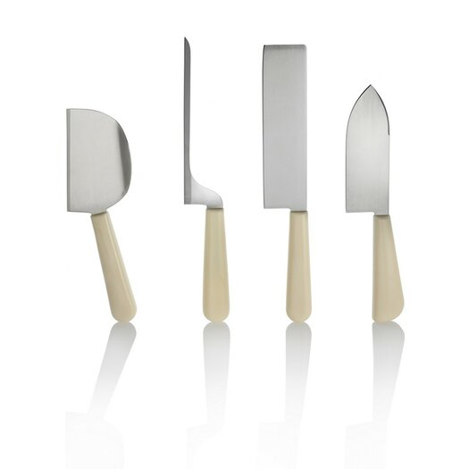 Alessi Milky Way Minor 4 Piece Cheese Knives Set
