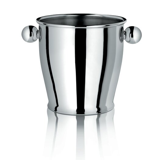 Alessi Ice Bucket with Handles in Polished Stainless Steel