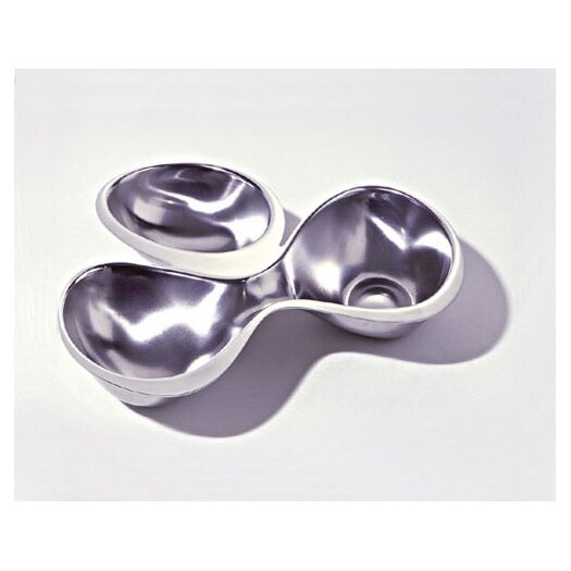 Alessi Ron Arad - Bar and Serveware Babyboop 3 Section Hors-d'oeuvre Divided Serving Dish