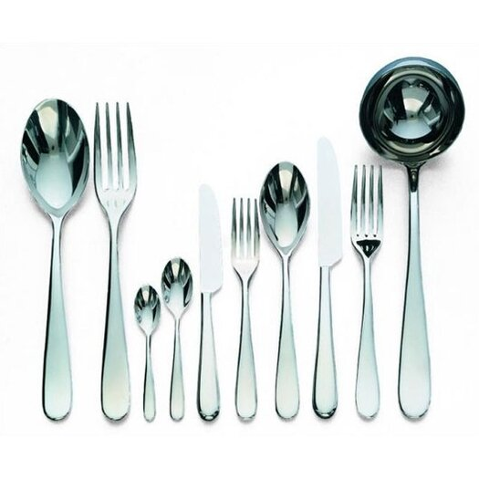 Alessi Nuovo Milano Dessert Fork in Mirror Polished by Ettore Sottsass