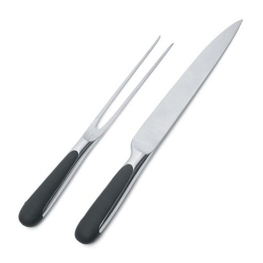 Alessi Stefano Giovannoni 2 Piece Carving Knife and Fork Set
