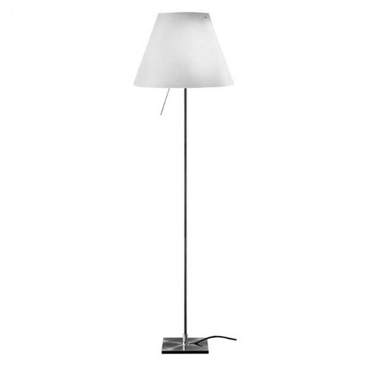 Luceplan Costanza Floor Lamp with On/Off Switch - Shade Included