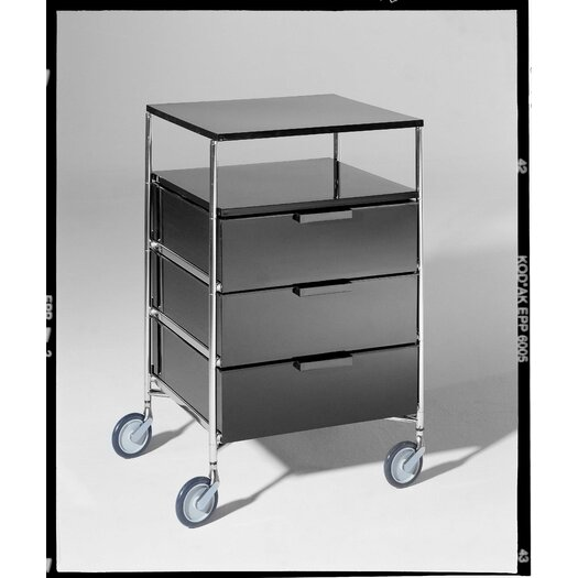 """Kartell Mobil 26.38"""" Storage Container with 4 Drawers"""