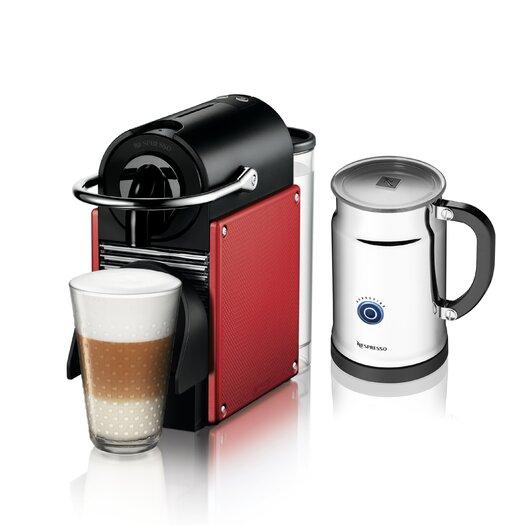 Nespresso Pixie Espresso Maker with Aeroccino Plus Milk Frother Bundle