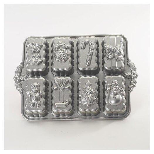 Nordicware Platinum Holiday Mini Loaves Cake Pan