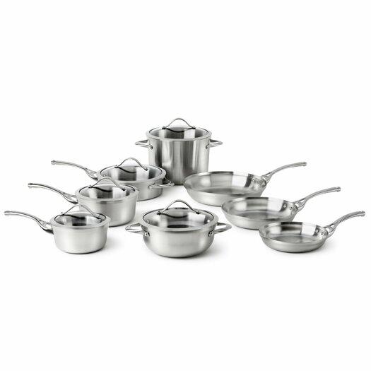 Calphalon Contemporary Stainless Steel 13-Piece Cookware Set
