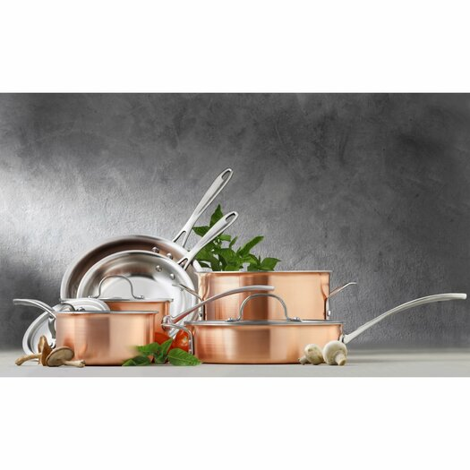 Calphalon Try-Ply Stainless Steel 10-Piece Cookware Set