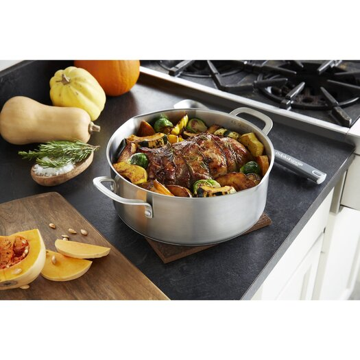 Calphalon Stainless Steel 5 Qt. Aluminum Round Dutch Oven