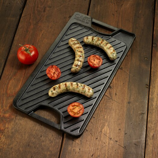 "Calphalon Pre-Seasoned Cast Iron 18"" Reversible Grill and Griddle"
