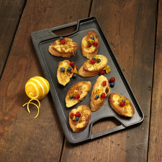 """Calphalon Pre-Seasoned Cast Iron 18"""" Reversible Grill and Griddle"""