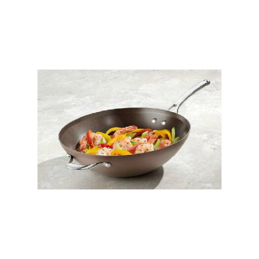"Calphalon Contemporary Nonstick Bronze Anodized Edition 12"" Flat Bottom Wok"