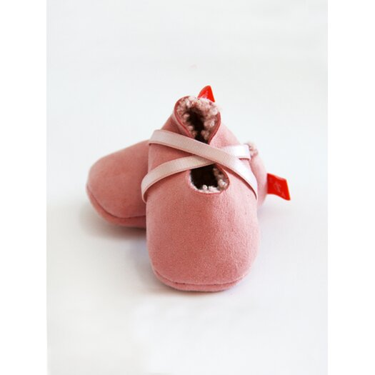 Elks & Angels Welcome Booties Slipper in Magnolia Pink Sheepskin