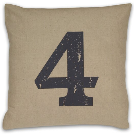 DR International Numeral 4 Pillow