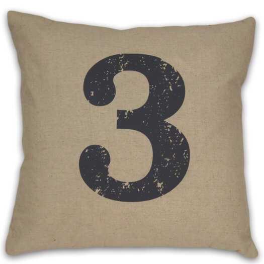 DR International Numeral 3  Pillow